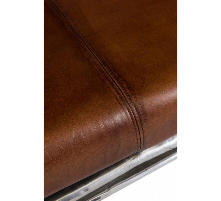Canapé 2 places cuir et métal VROUM