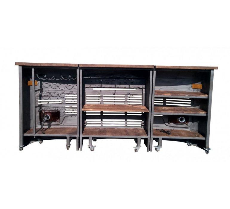 Bar vintage bois et métal TATA