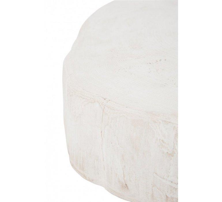 Bout de canapé résine blanc FECAMP