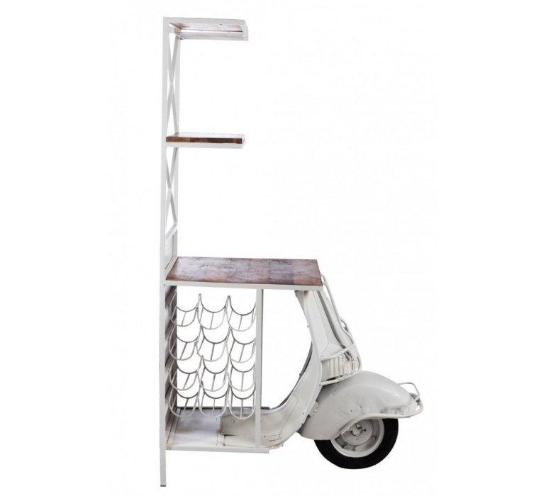 Bar scooter métal et bois VESPA