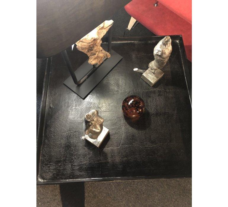 Table basse carrée en métal moderne ALINE
