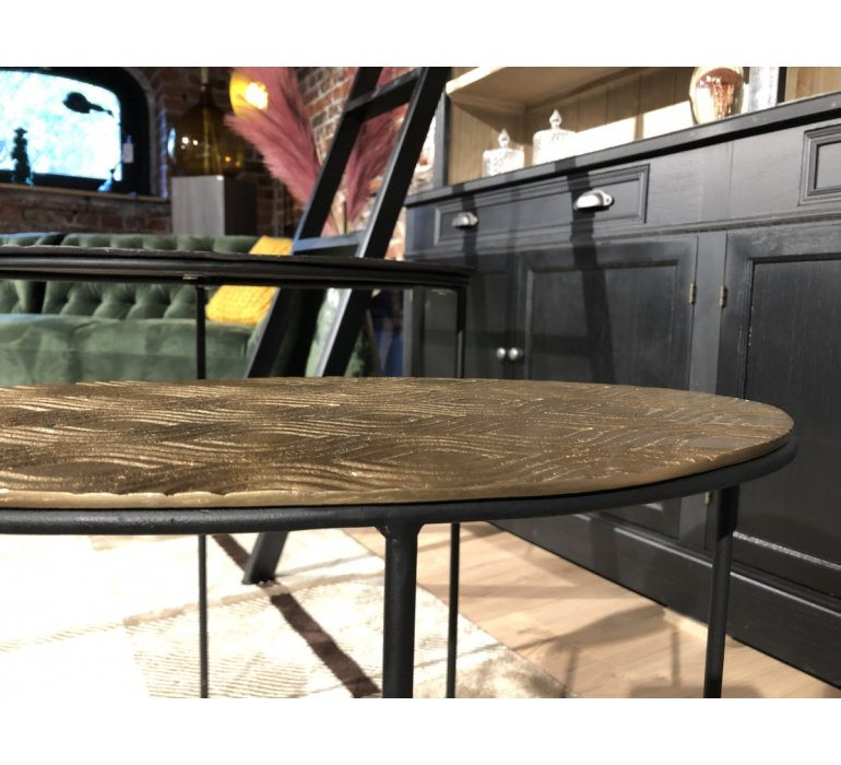 Table gigogne ovale en métal moderne KALY