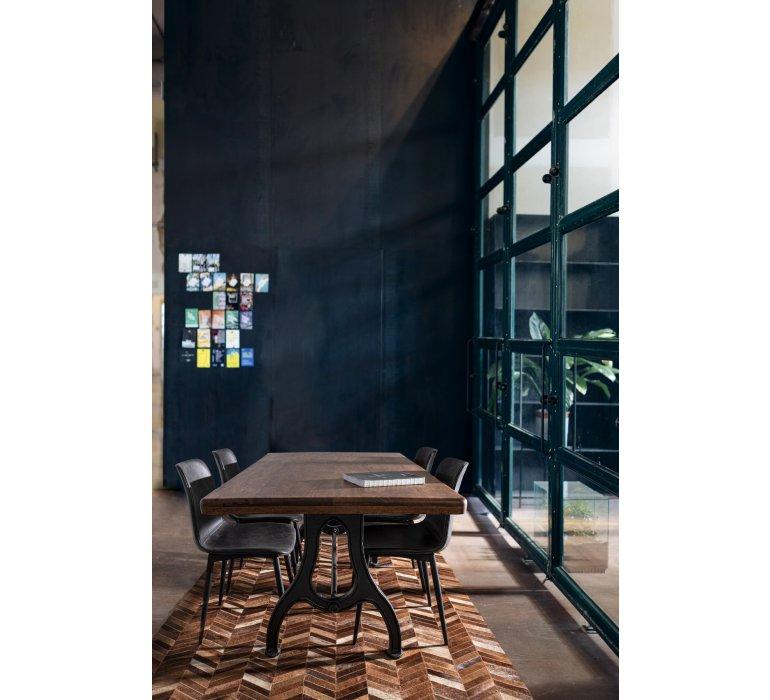 Table industrielle bois manguier et métal QUAI