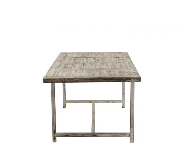 Table à manger 200 cm bois blanchi délavé PLAYA