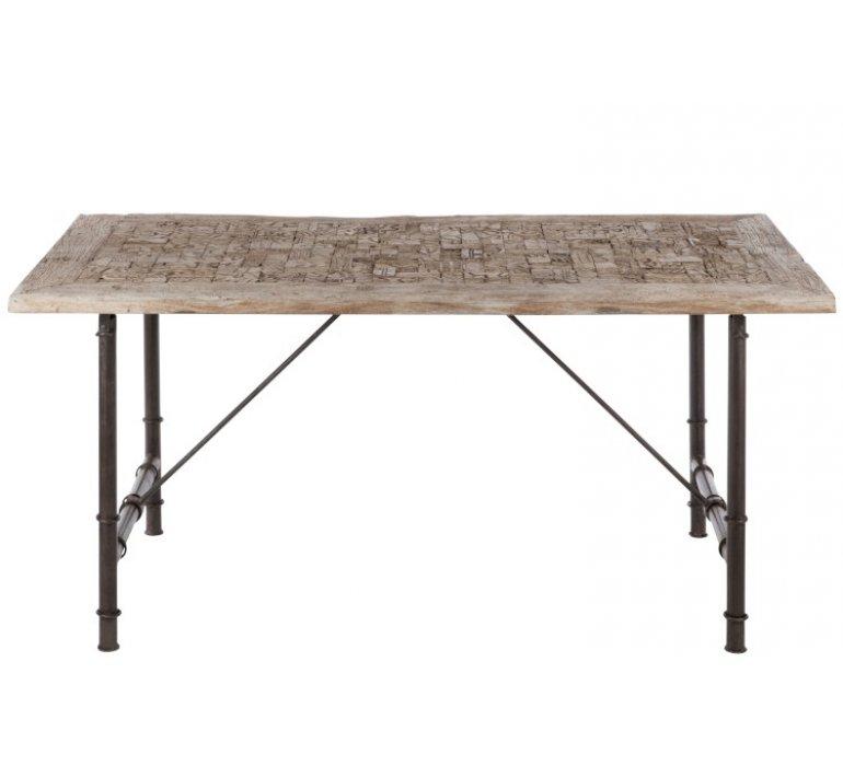 Table à manger industriel bois et métal GROOVER