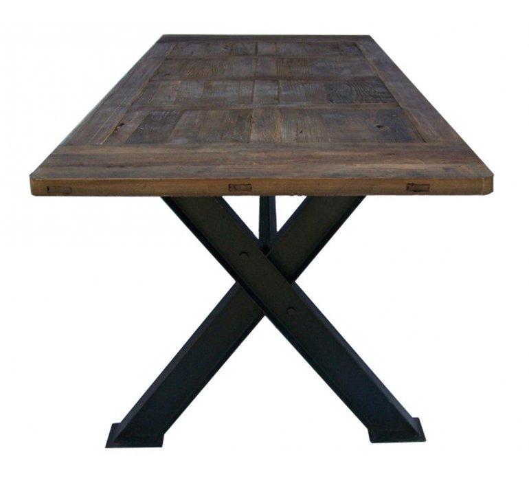 Table industrielle bois massif et métal 250cm UTAH