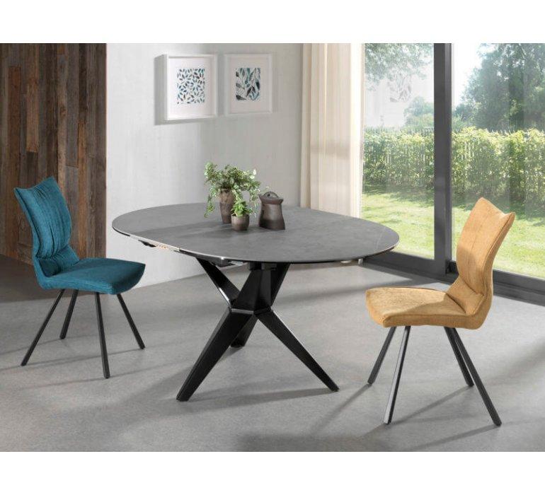 Table à manger ronde extensible en céramique moderne HORUS