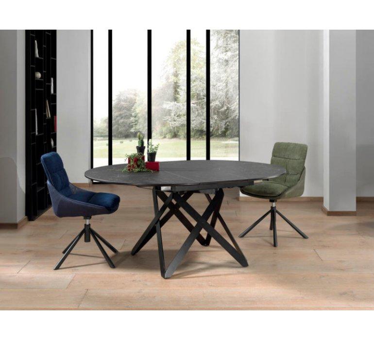 Table ronde avec rallonge en céramique moderne ARAMIS