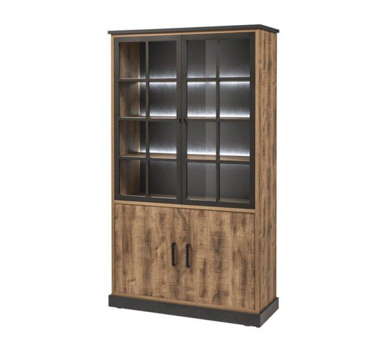 Vaisselier moderne lumineux 4 portes HOWEN