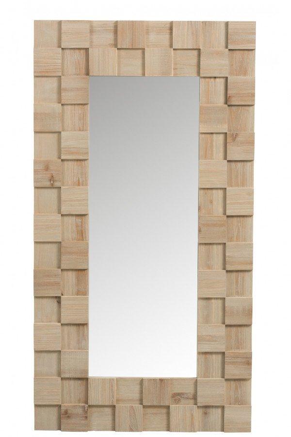 Miroir Déco Scandinave Bois Clair NORVEGE