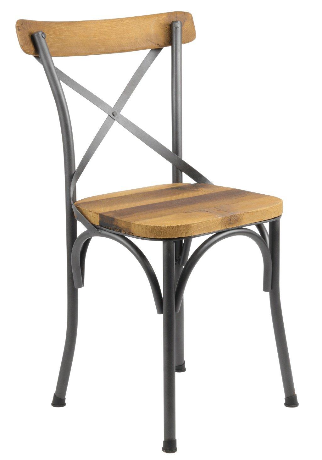 Chaise Bois Et Metal Industriel chaise bistrot industrielle bois et métal tradition