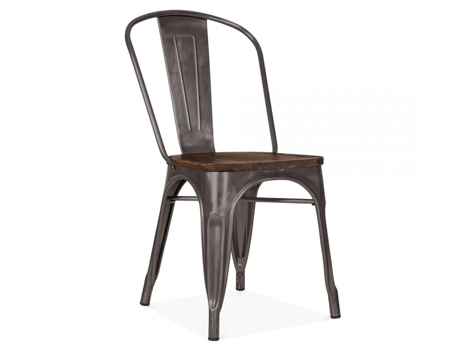 Chaise Bois Et Metal Industriel chaise industrielle métal et bois hipster