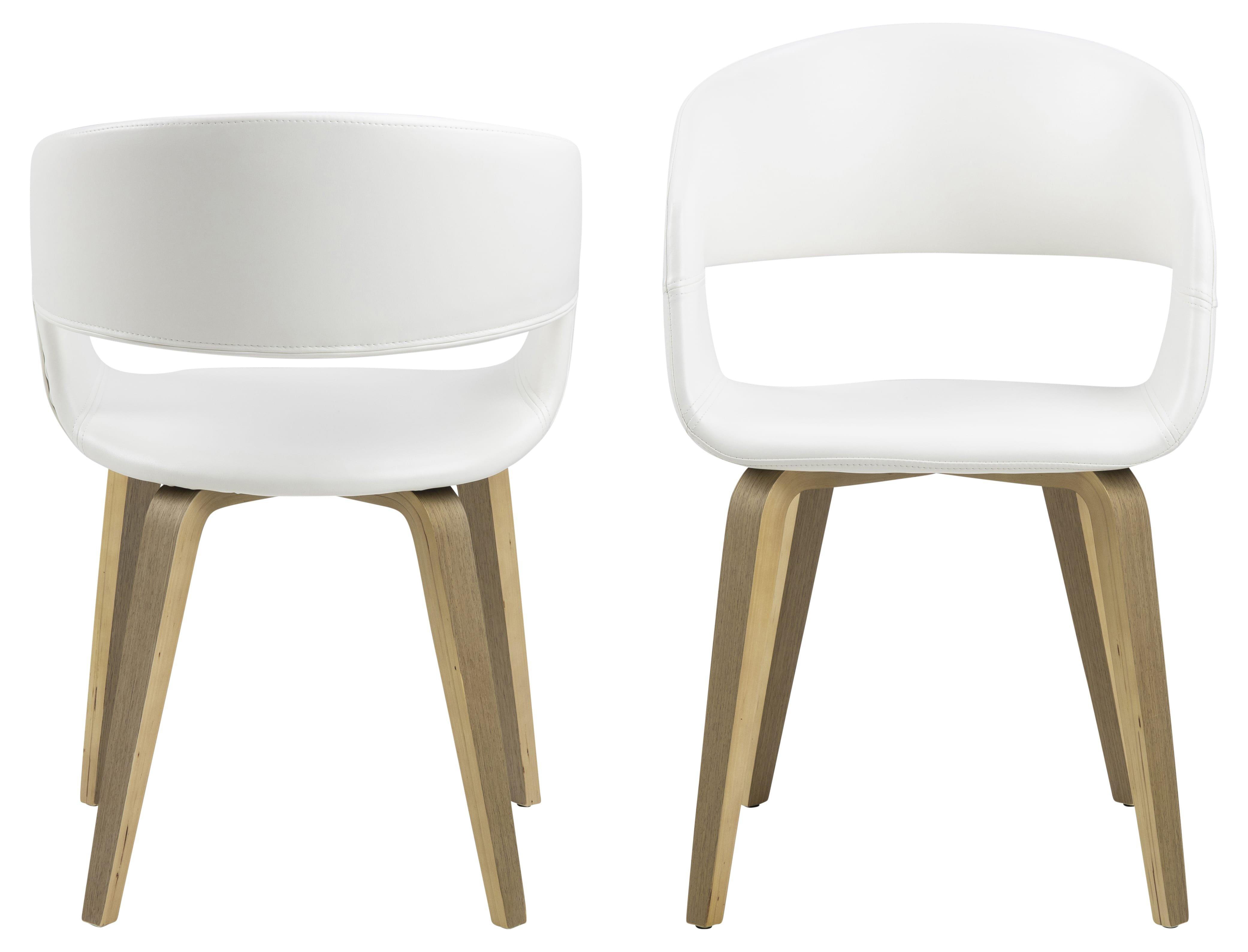 Chaise scandinave blanche design (lot de 5) ALLEN