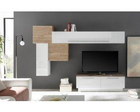 Meuble Tv Moderne En Bois Massif Et Laque Pour Le Salon