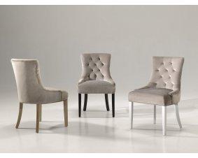 chaise capitonnee en tissu cuir velours