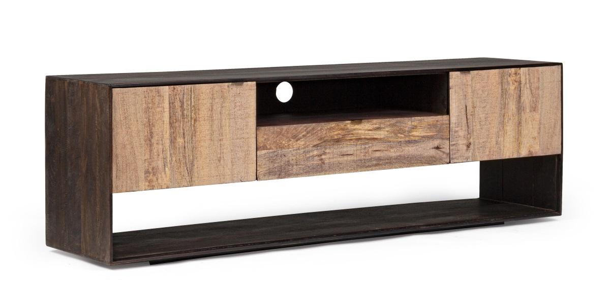 meuble tv bois massif contemporain hunter