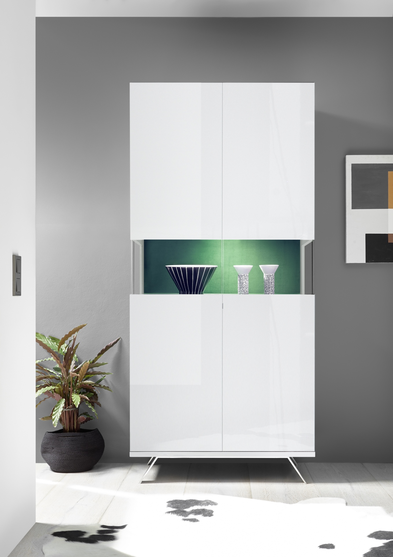 Difference Blanc Brillant Et Blanc Laqué vaisselier design blanc laqué éclairage led epura